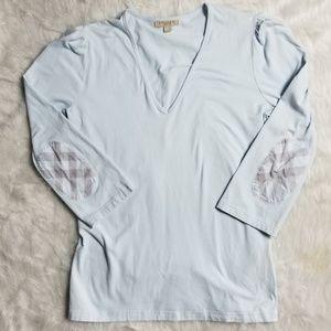 Burberry Brit nova check v-neck cotton shirt